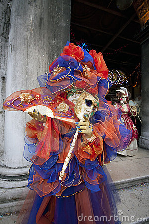 Carnival Costume in the Venice Italy