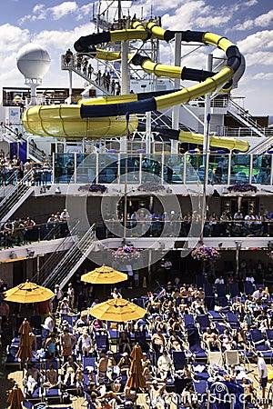 Carnival cruise ship water slide fun! Editorial Photography