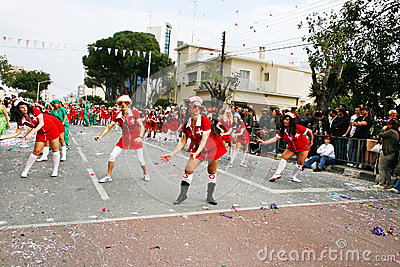 Carnival in Cyprus Editorial Stock Photo