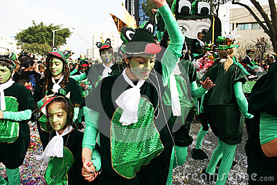 Carnival in Cyprus Editorial Photography