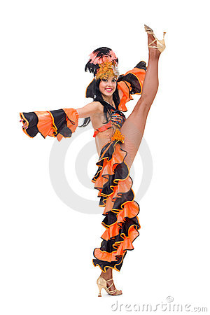 Carnival dancer makes splits
