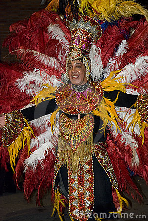 Carnival dancer in Montevideo Editorial Stock Photo