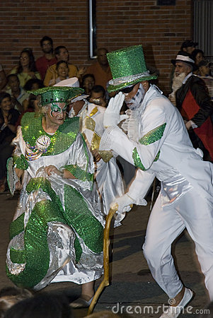 Carnival dancers in Montevideo, Uruguay, 2008. Editorial Stock Image