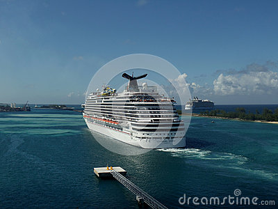 Carnival Dream in Nassau, Bahamas Editorial Stock Photo