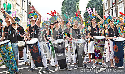 Carnival drummers Editorial Image