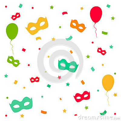 Free Carnival Explosion With Confetti And Masks Royalty Free Stock Photography - 41371937