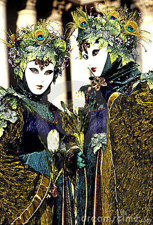 Free Carnival Figures- Venice, Italy Stock Images - 486194