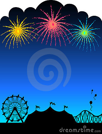Free Carnival Fireworks Background/eps Stock Images - 9759724