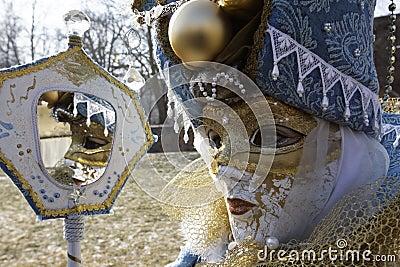 Carnival - Hallia VENEZIA - mirror Editorial Stock Photo