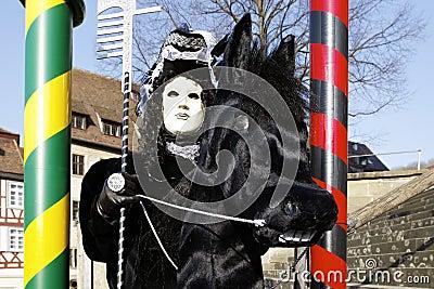 Carnival - Hallia VENEZIA - rider Editorial Stock Image
