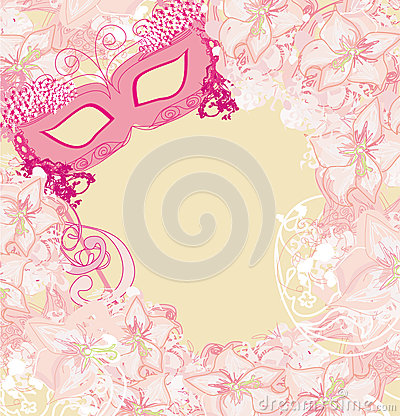 Carnival Mask - abstract floral card