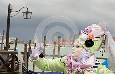 Carnival mask in Venice Editorial Stock Photo