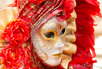 Carnival mask in Venice Editorial Stock Image