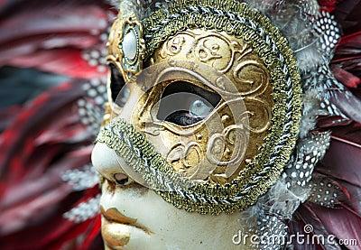 Carnival mask in Venice Editorial Photo