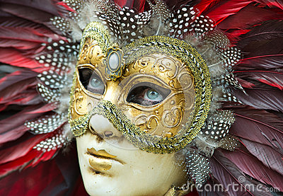 Carnival mask in Venice Editorial Photography