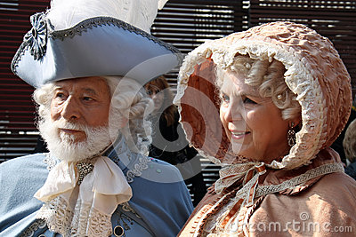 Carnival masks of Carnival of Venice Editorial Stock Photo