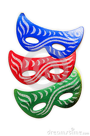 Carnival masks isolated