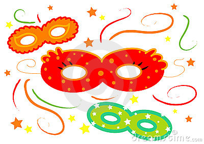 Carnival masks isolated vector