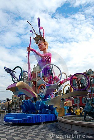 Carnival of Nice on February 21, 2012, France Editorial Photography