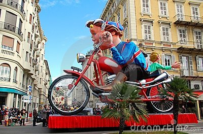 Carnival of Nice on February 21, 2012, France Editorial Stock Image