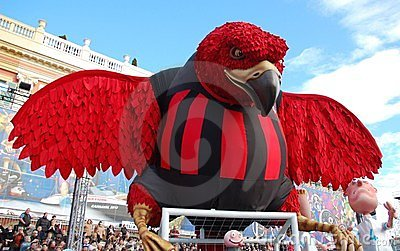 Carnival of Nice on February 21, 2012, France Editorial Stock Photo