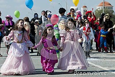 Carnival Parade, Nicosia Cyprus Editorial Image