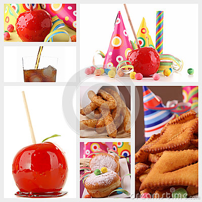 Carnival pastry and toffee apple
