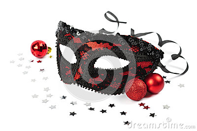 Carnival red mask