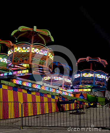 Free Carnival Ride At Night Stock Image - 77872191