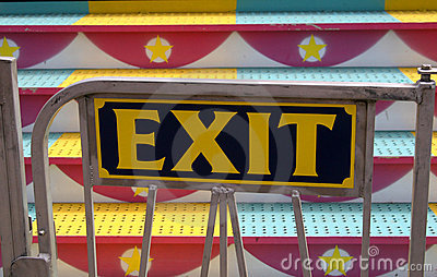 Carnival Ride Exit Sign