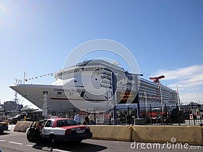 Carnival Spirit Cruiseship in port Editorial Image