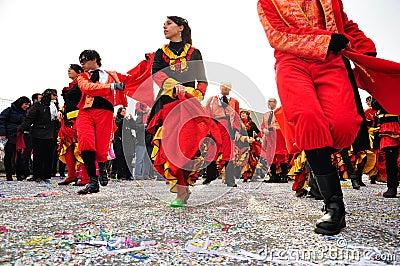 Carnival street parade in Moncalieri, Turin. Editorial Stock Image