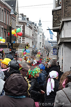Carnival street performers in Maastricht Editorial Stock Photo