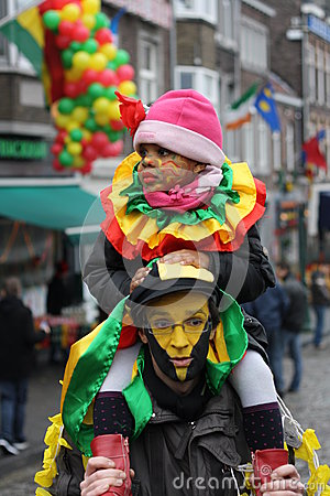 Carnival street performers in Maastricht Editorial Stock Image