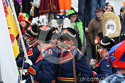 Carnival street performers in Maastricht Editorial Photography