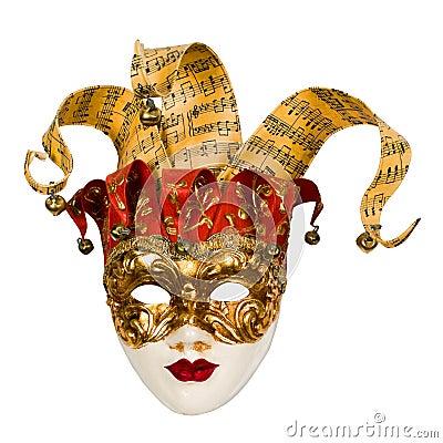 Carnival venetian mask with bells