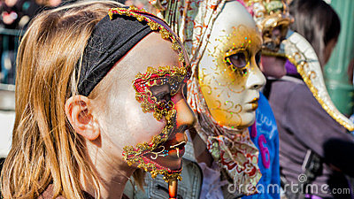 Carnival Venitien d  Annecy 2012 Editorial Stock Photo