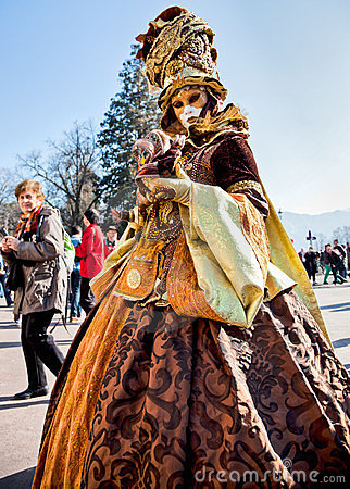 Carnival Venitien d  Annecy 2012 Editorial Stock Image