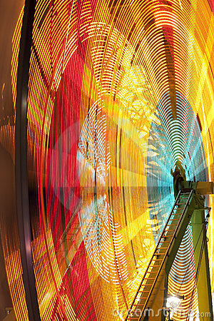 Carnival wheel in motion