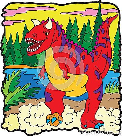 Carnotaurus del dinosauro