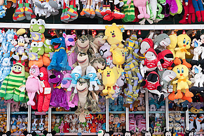 Carny Booth Stuffed Animals Editorial Image