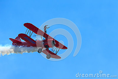 Carol Pilon Wing Walker Editorial Image