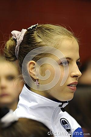 Carolina Kostner 2011 Italian Champion ice skater Editorial Image