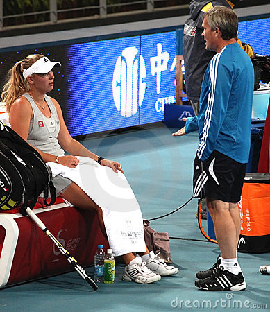 Caroline Wozniacki at the China Open 2009 Editorial Photography