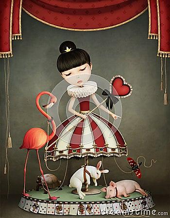 Free Carousel Girl Royalty Free Stock Image - 70446796