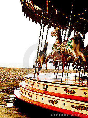 Carousel with horses