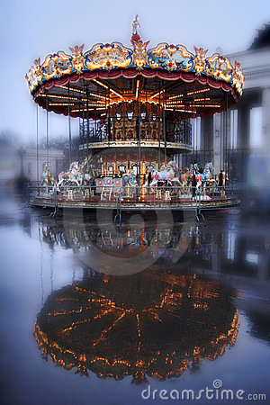 Carousel With Horses Stock Photos - Image: 9190413