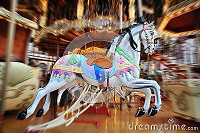 Carousel Horses in Christmas market