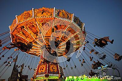 Carousel at Oktoberfest in Munich Editorial Stock Photo