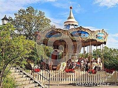 Carousel in Skansen park